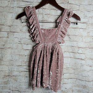 Paush Toddler Girls Dress Velvet Pinafere Sz 3T